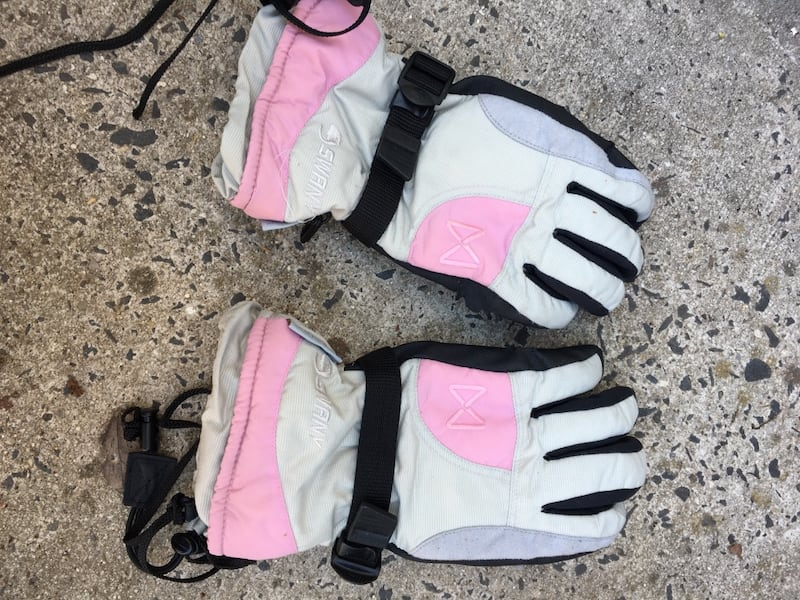 Pink & Gray Snow Gloves c5c292d4-b7b1-45f7-ba52-8fb11b5a324b