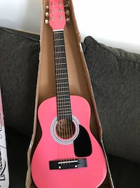 Red and black acoustic guitar Toronto, M3H 2S9