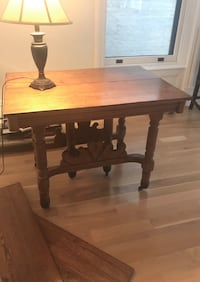 Exquisite Vintage Carved Oak Dining Table (w/Leaves) New York, 11201