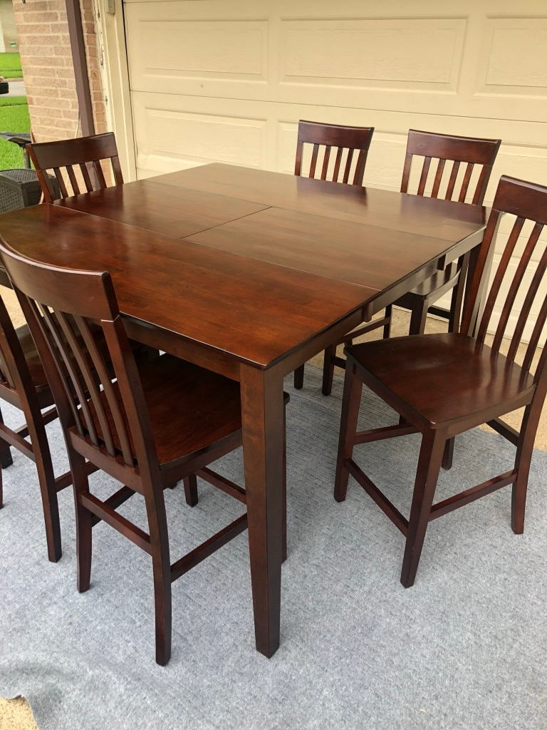 7 pc solid wood dining set table 6 chairs usado en venta en rh es letgo com