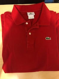 Men Red Lacoste Polo Toronto, M6H 3M3