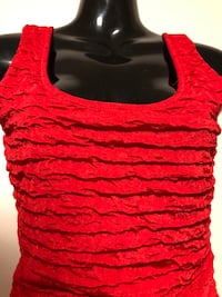 Textured Red Dress M Calgary, T3A 2T7