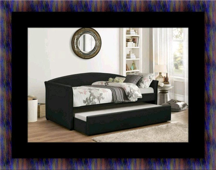 used daybed black with mattress for sale in upper marlboro letgo rh se letgo com