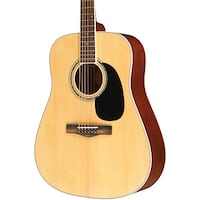 Mitchell MD100 Natural Acoustic Guitar with Hardshell Black Case