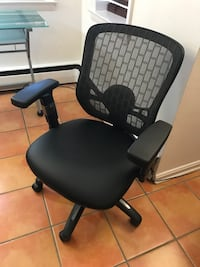 Frosted Glass desk and accompanying chair