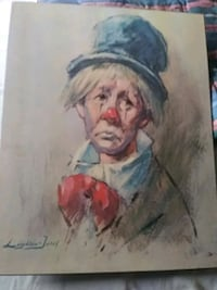 Emmett Kelly 1970s original print