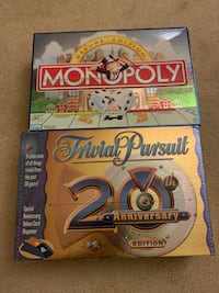 Monopoly Game (Deluxe Edition) and Trivial Pursuit 20th Anniversary. Woodbridge