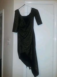 black scoop-neck long-sleeved dress 1199 mi