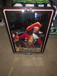 black and red captain morgans sign 2288 mi