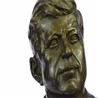Collector Edition John Fitzgerald Kennedy USA President Bronze Statue (10X7 Inches) Sterling