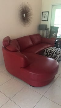 Red leather sectional Tampa, 33624