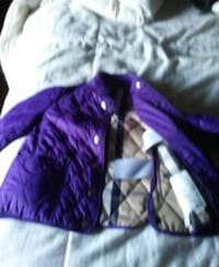 quilted purple zip-up jacket