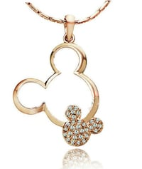 Mickey Mouse Gold Plated Pendant & Necklace Beaverton, 97225