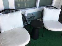 white and black leather padded chairs Orlando, 32821