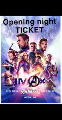 Ticket for Avengers Endgame April 25th 6:30pm McLean, 22102