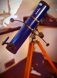 blue and black telescope with tripod Vancouver, V6A 2C2
