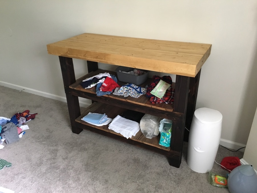 used rustic changing table baby clothes not included for sale in rh us letgo com