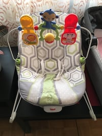 baby's white and green Fisher-Price bouncer Toronto, M2R 2A4