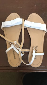 pair of brown-and-white leather sandals Alexandria, 22307
