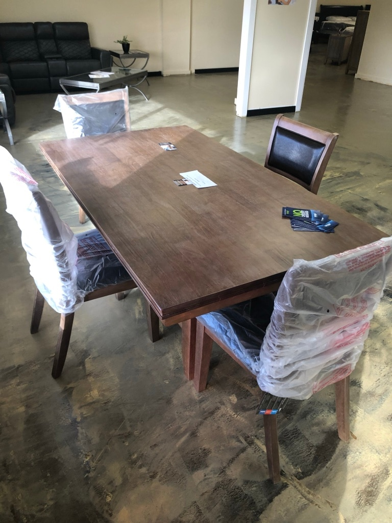 used dining table with chairs new real wood for sale in jacksonville rh us letgo com