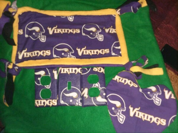 Vikings pillows and wallplate covers