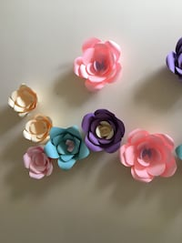 Paper flowers $10 each great for wall decor and birthdays