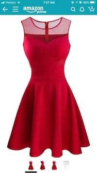 women's red sleeveless dress 39 km
