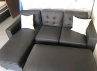 Brand New Black Linen Sectional Sofa +Ottoman  Silver Spring, 20910