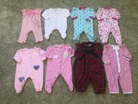 6-9months baby girl pijamas $2 each Des Moines, 50314