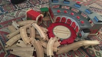 Thomas the train shed and roads
