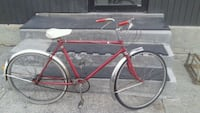 red and white road bike