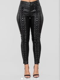 Fashion Nova Black Faux Leather Leggings NWT