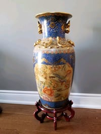 Oriental Decorative Vase with Stand Vaughan, L4H 3H8