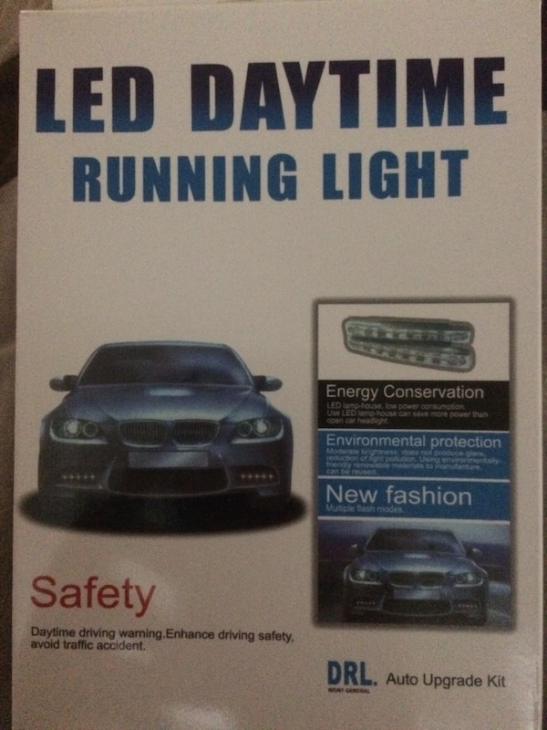 Black led daytime running light box
