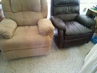 brown leather recliner sofa chair 755 mi