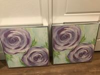 2 floral paintings Dallas, 75206