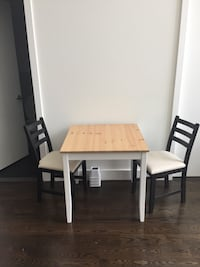 IKEA kitchen table and two chairs New York, 11238
