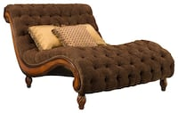brown tufted chaise lounge