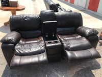 black leather home theater sofa Washington, 20024