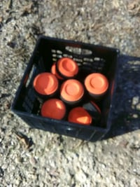 clay pigeons you shoots with a skeet thrower and shotgun crate full