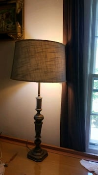 black and brown table lamp 20 km