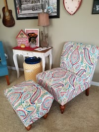 New Accent Chair w/ottoman SLIPPER style chair OVER-Sized $349+Wayfair Sold-Out on line Garner