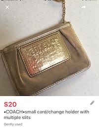•COACH•small card/change holder with multiple slits London, N5V 1H5