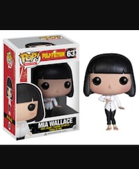 ¡Popular! Películas Pulp Fiction 63 Mia Wallace figura de vinilo con caja