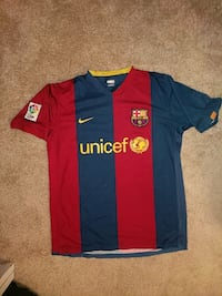 Barcelona 06/07 Home Adult Medium Soccer Jersey