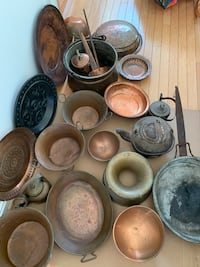 Old copper pots and skillet some very old Ashburn, 20147