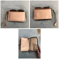 Rose gold aldo wallet/clutch