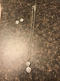 silver pendant chain necklace and earrings Rocky Mount, 27803