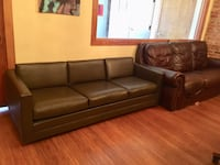 Contemporary brown leather sofa Chicago, 60612