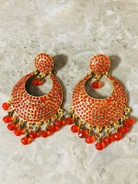 Orange Gold Plated Earings  Vaughan, L4L 7N8